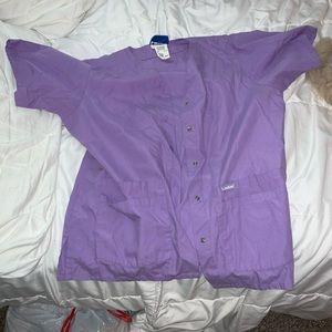 Purple scrub jacket